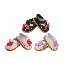 18 inch Cute Mickey Leather Shoes Accessories Toy For American Girl Fashion Classic Doll