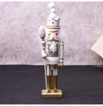 42cm Wooden Nutcracker Doll Soldier Vintage Handcraft Decoration Christmas Action Figure Gifts