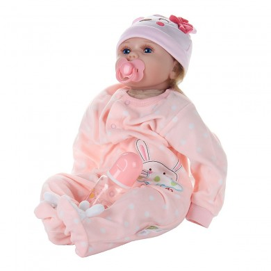22 Inches Reborn Doll Baby Lifelike Real Touch Newborn Babies Toy With Clothes
