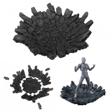 Effect Impact Grey For Action Figure Doll Accessories Parts Display