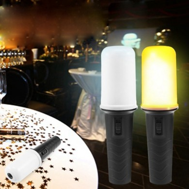 Portable Handheld LED Flame Flashlight Battery Powered Emergency Night Light For Party Concert Stage