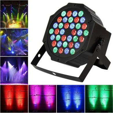 36W 36LED RGB Voice-activated DMX512 Stage Light Лампа Клуб для DJ Disco Party Effect AC110-220V