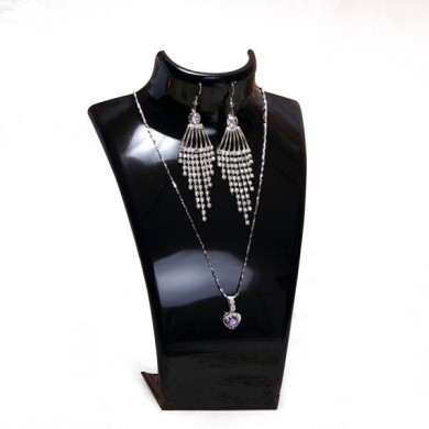 Acrílico Bust Necklace Brincos Display Stand Mannequin Jewelry Holder