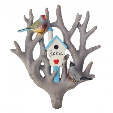 Bird Parrot Accueil Tree Seamless Wall Hook Hanger Décoration Décoration