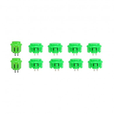 30mm 24mm Green Push Buttons for Arcade Game Joystick Controller MAME
