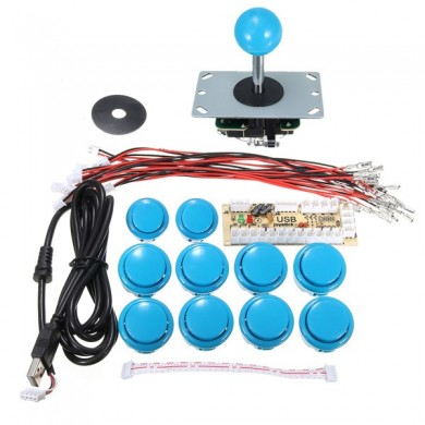 2Pcs Zero Delay Arcade Game Controller USB Joystick Kit for MAME
