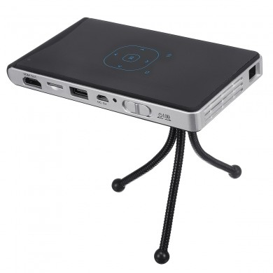 DLP100WM DLP Mini Projector LED Wireless Same Screen Projector 2000 lm Android 4.4 BT 1080P 10-100 inch Screen
