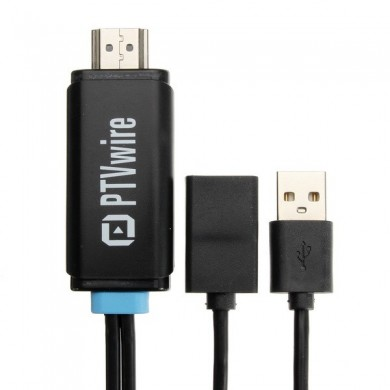 PTVwire CA01F Bildschirm Spiegelung 1080P HDMI Adapter Display Stick Dongle für IOS Smartphone
