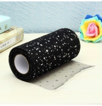 25yards Sequin Tulle Roll Tutu Crafts Acessórios de costura Tecido Patchwork Wedding Decoration