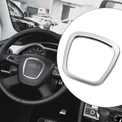 Aluminium Alloy Car Steering Wheel Sticker Body Emblem Trim for Audi A3/A4/A5/Q5/Q7