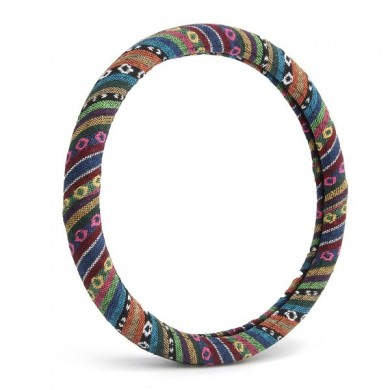 38cm Linen Car Steel Ring Wheel Cover Multi-Color National Styling Flax Cover Universal