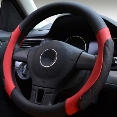 38cm Universal Leather Sport Car Auto Steering Wheel Covers Four Colors