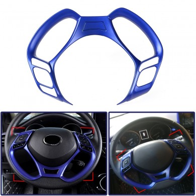 Car Interior Steering Wheel Button Covers Trim Blue Decoration for Toyota C-HR 2016 2017 2018 2019