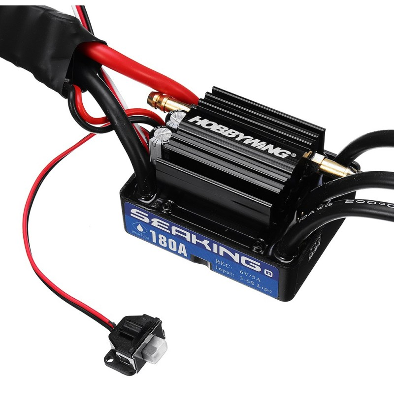 Hobbywing Seaking V3 180A Brushless Waterproof ESC Speed Controller 6V/5A BEC for Rc Boat Parts фото