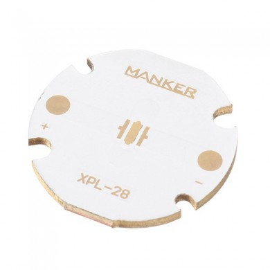 Manker 28mm Copper MCPCB XPL XPE XPG Direct Thermal Path Circuit Board