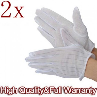 2 X ESD PC Computer Working Anti-static Anti Skid Gloves
