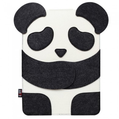BUBM 13inch Panda Design Hair Felt Shockproof Laptop Inner Package Bag for Macbook