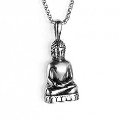 Tathagata Buddha Necklace Pendant Stainless Steel Men's Jewe
