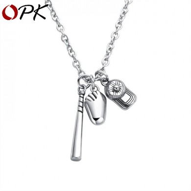 Fashion Pendant Necklace Baseball Hat Bat Glove Sports