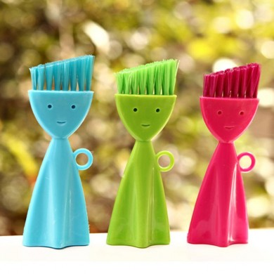 Lovely Smiling Face Multipurpose Keyboard Nook and Cranny Dust Window Track Household Cleaning Brush