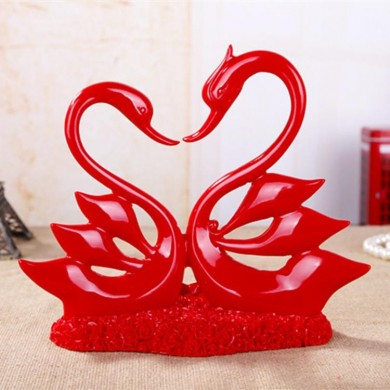 Wedding Products Resin Crafts Lovers Red Scarlet House Decorations