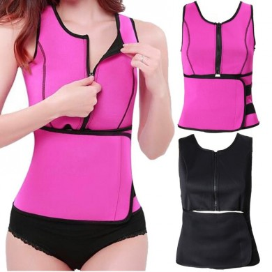 Women Slimming Breathable Elastic Neoprene Body Shaper Waist Belt Vest
