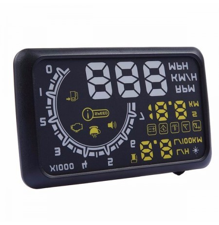 W02 Car HUD Head Up Display 5.5inch 12V Working Voltage With OBDII Interface