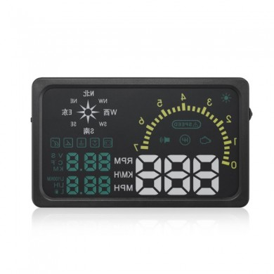 I6 6inch Screen Car HUD with OBD2 Interface Comprehensive Display