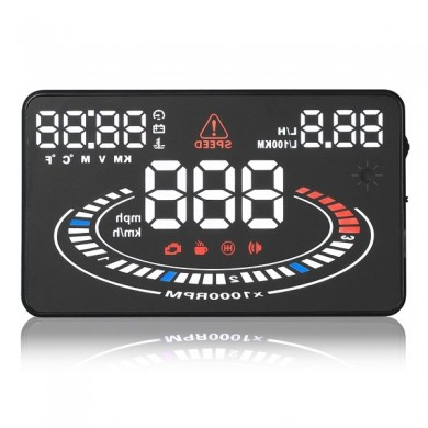 E300 Car HUD Head Up Display 5.5 inch with OBD OBD2 Interface Plug