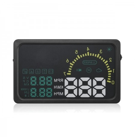 I5 carro hud interface do obdii display head-se de 6 polegadas