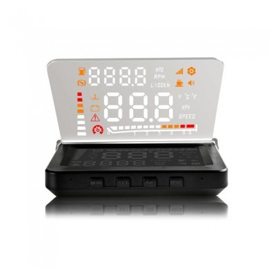 E260 4 inch Car HUD Head Up Display OBDII Interface Plug and Play