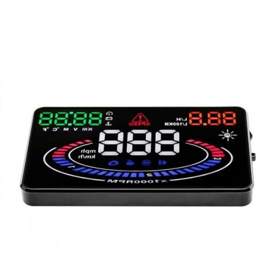 E300 5.coche Head Up Display HUD 5 pulgadas solicitar OBDII y euobd