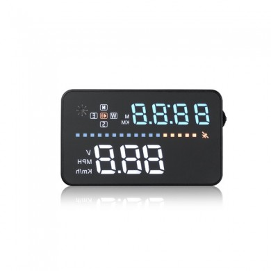 Coche multicolor Head Up Display HUD incorporado A3 módulo se aplican para OBD1 y OBD2 GPS 3.5 pulgadas