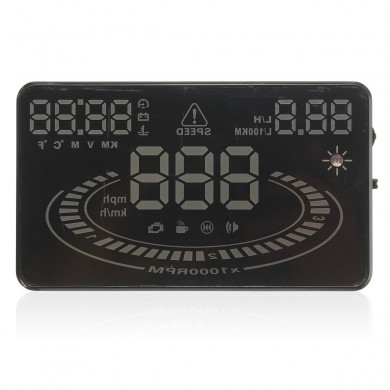 5.5 Inch 2D Vision Reflection Car Hud E300 Head Up Display OBD2 Speed Warning System