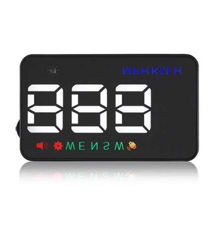 GEYIREN A5 3.5 Inch Car HUD Wind Shield Projector Speedometer Overspeed GPS Satellite 2 Dispaly Mode