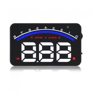 GEYIREN M6 Car HUD Head Up Display OBD2 EUOBD Car Driving Data  Speed RPM Water Temperature