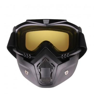 Windproof Goggles skiing Motorcycle Riding glasses+Breathable Face Mask