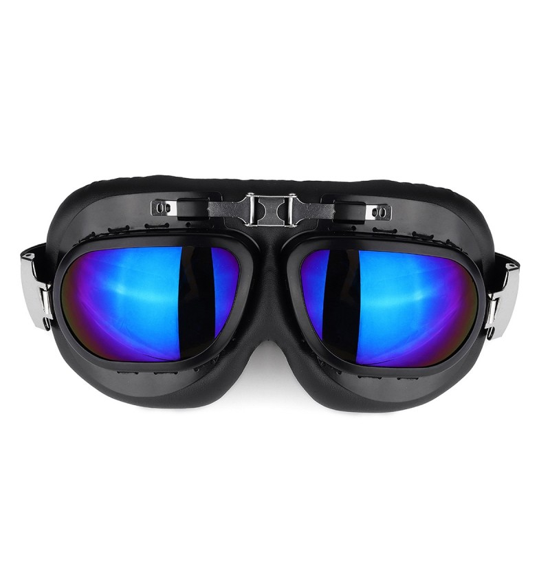 Motorcycle Goggles Glasses Vintage Classic Goggles Retro Pilot Cruiser Steampunk UV Protecti (Color: Color) фото