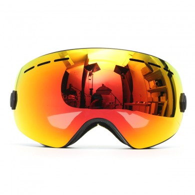 1ca8c8bdfc Motorcycle Ski Goggles Anti Fog UV Protection Dual-Lens Off-Road Snowboard  Black Frame