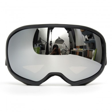 Snowmobile Skiing Goggles Double Lens Anti Fog UV Snowboard Snow Sport Black