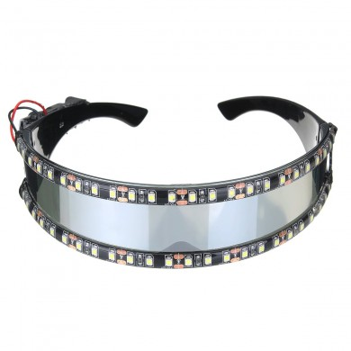 LED Moto Gafas Cosplay Holiday Decoration Halloween Gift Festival Discoteca Escenario Apoyos