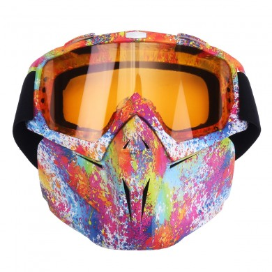 5 Colorful Len Flexible Goggles Glasses Face Mask Motorcycle Riding ATV Dirt Bike Security