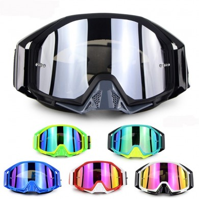 Soman Motorcycle Motocross Cycling Racing Off Road Skiing Goggles Anti-Scratch Colorful Lens