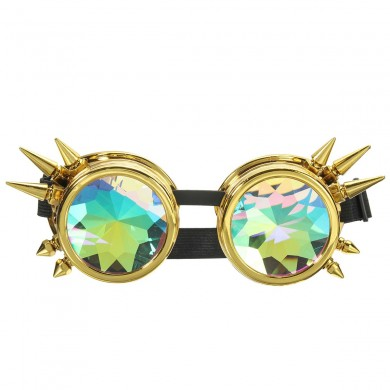 5 Colors Kaleidoscope Glasse Rave Prism Sunglasses Crystal Lens Rainbow Party