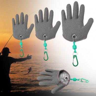 1 Pcs Fishing Gloves Safety Magnet Release Keychain Fishing Right Hand Protection Glove