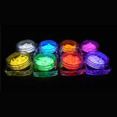 1PCS 2x12mm Multicolor Tritio Viales Auto Luminosos 15 Años EDC Linterna Accesorios