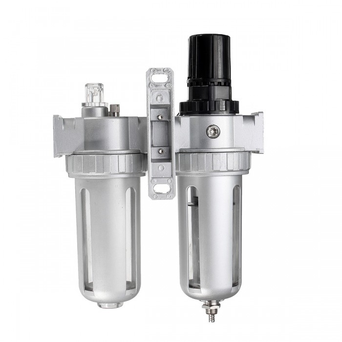 Air Pressure Compressor Regulator Filter Lubricator Oil Water Regulator with Gauge-Quality is Our Culture Air Source Treatment SFC200