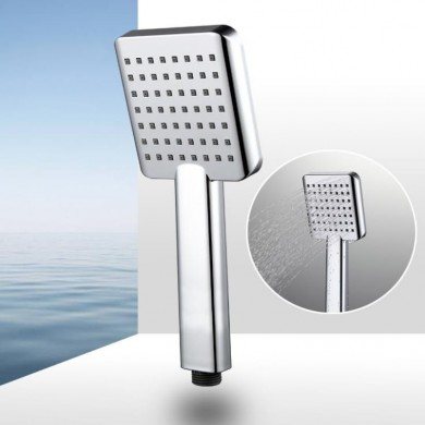 Modern Handheld Shower Head Single Function ABS Plastic Square Hand Sprayer Head Replacement