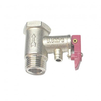 G1/2 Brass Spring Type Safety Valve Electric Water Heater Pressure Relief Valves