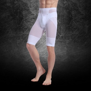 Men Nylon Kompression Nahtlose Ultra Thin Leggings Unterwäsche Shapewear